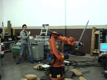 wiimote-controlled robot parries - image courtesy usb mechatronics