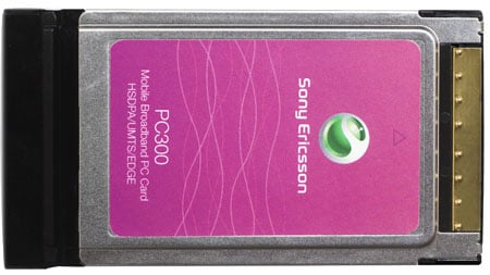 sony ericsson pc300 mobile broadband pc card