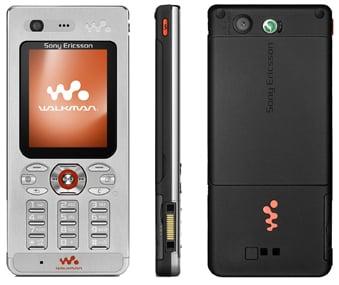 sony ericsson w880 skinny walkman phone