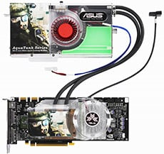 asus aquatank water-cooled geforce 8800 gtx