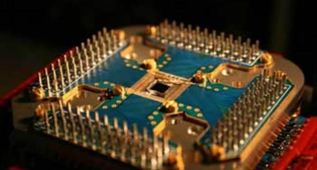 Shot of D-Wave's 16 qubit chip
