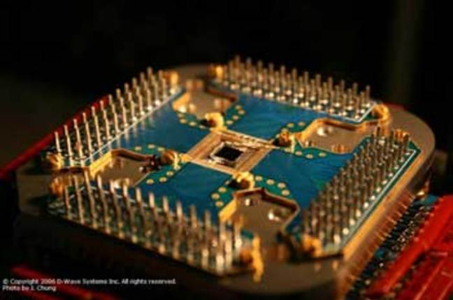 Shot of D-Wave's 16 qubit chip