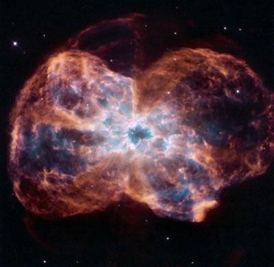 A white dwarf and its planetary nebula
