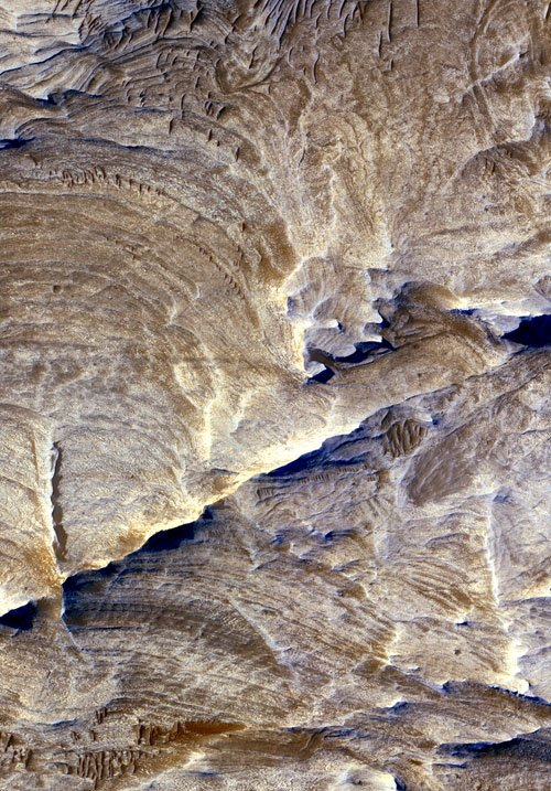 Mineral patterns on Mars