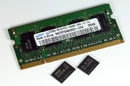 Samsung 60nm 1Gb DDR 2 DRAM chip and DIMM