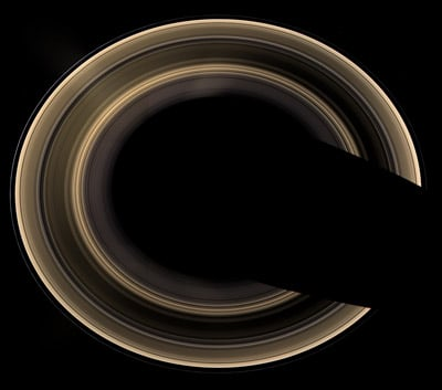 An unusual view of Saturn