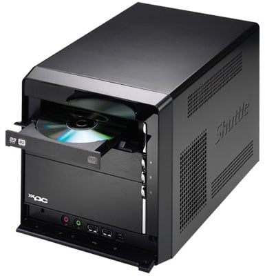 Shuttle SD39P2 quad-core SFF PC - side