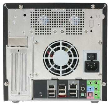 Shuttle SD39P2 quad-core SFF PC - back