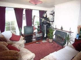 The Grim Reaper visits a Bedfordshire living room