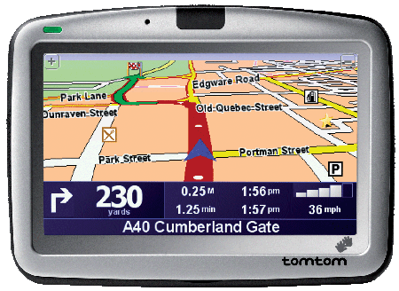 TomTom GO 910 GPS device