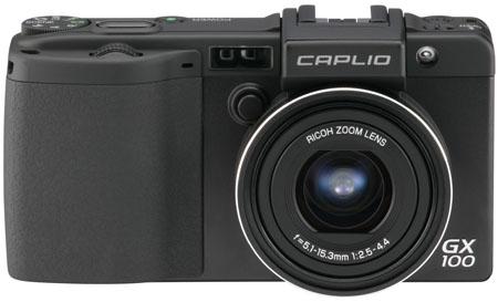 Ricoh GX100 compact camera - front