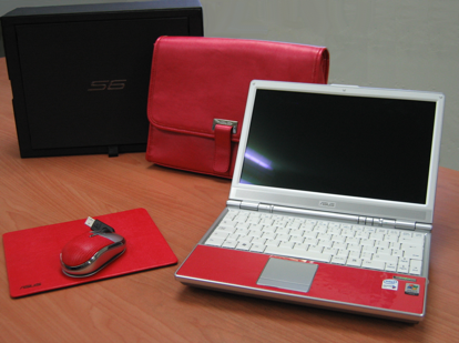 Asus' unique red (nose) SF6 laptop