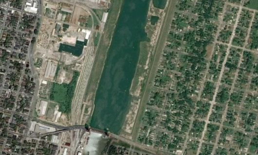 New Orleans as seen last week on Google Earth