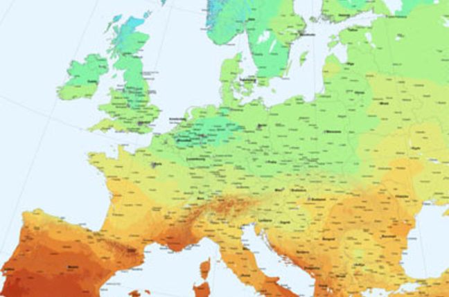 A map of Europe's solar potential
