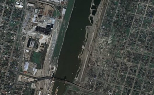 New Orleans as it now appears on Google Earth