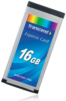 Transcend ExpressCard 16GB solid-state drive
