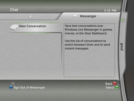 Instant Messaging on the Xbox