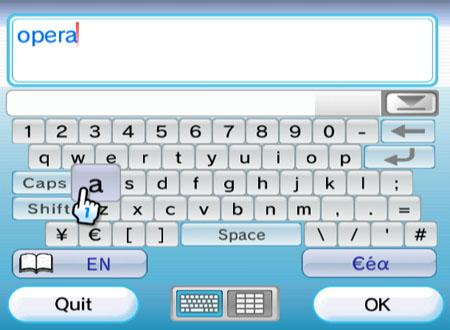 Nintendo Wii Internet Channel - keyboard