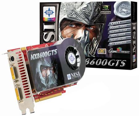 MSI NX8600GTS-T2D256E-HD-OC graphics card