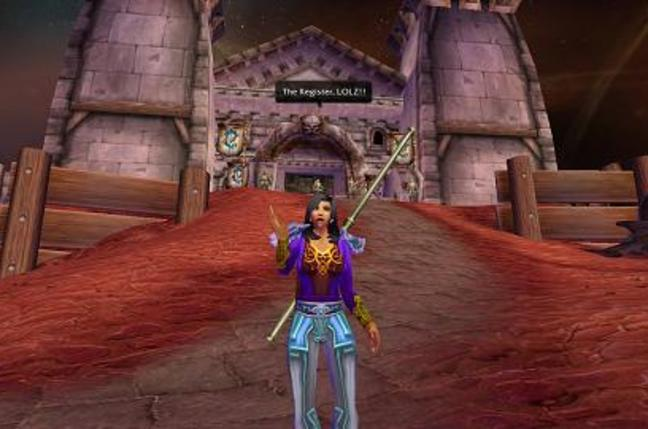 Shot of female priest avatar in World of Warcraft