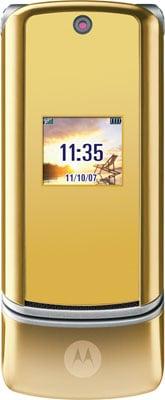 Motorola's champagne gold KRZR K1