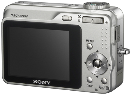 Sony Cyber-shot DSC-S800 - back
