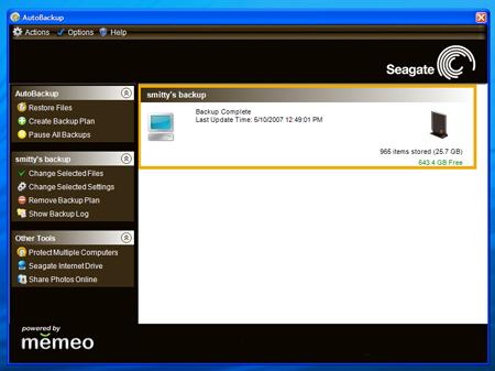 Seagate AutoBackup utility