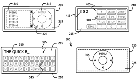 Apple iPod control patent - UIs
