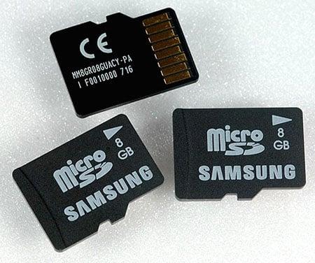 Samsung 8GB MicroSD card