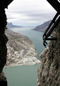 View from the entrance of the Black Angel mine. . Photo copyright Black Angel Mining Ltd