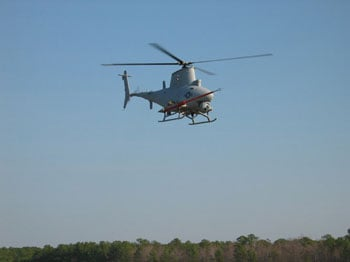 Fire Scout robot helicopter