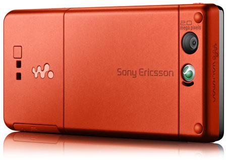 Sony Ericsson W880 - back view