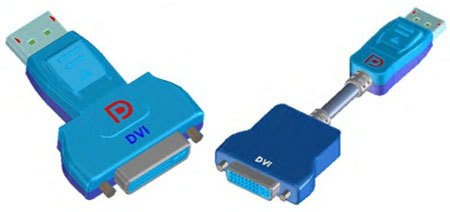 DisplayPort-to-DVI 'active protocol adaptors'