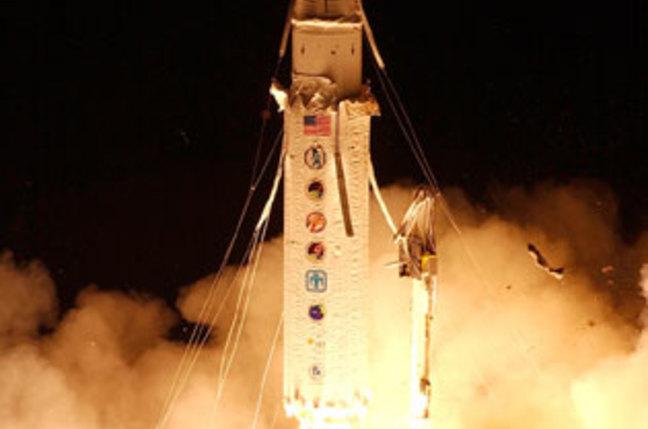 ICBM simulating rocket