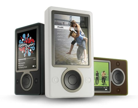 Microsoft Zune MP3 player group shot