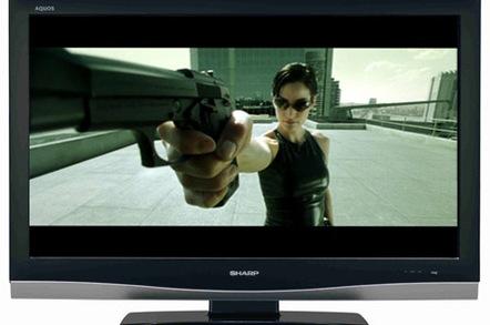 "Sharp LC37XD1E HD TV - ""The Matrix"" image copyright Warner Brothers"
