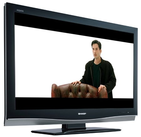 "Sharp LC37XD1E HD TV - ""The Matrix"" image copyright Warner Brothers"