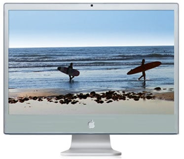 Aluminium iMac - artists impression