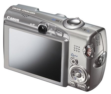 Canon Ixus 950 IS digital camera (back)