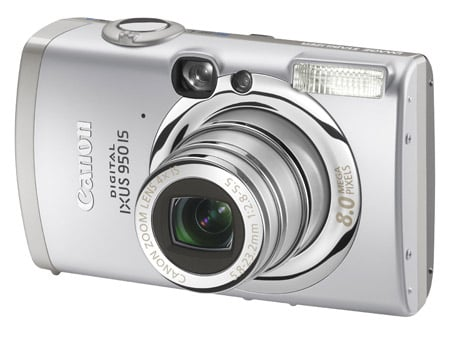 Canon Ixus 950 IS digital camera (front)