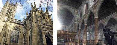 Manchester Cathedral: real and not real