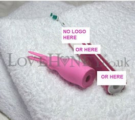 LoveHoney's censored picture of the Brush Bunny Electric Toothbrush Rabbit Vibrator