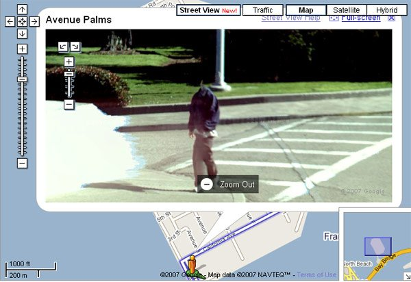 Headless man as seen on Street View