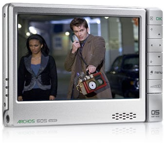 Archos 605 WiFi portable media player - doctor who image courtesy BBC TV