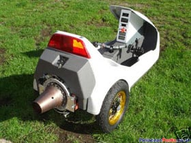 A photo of the jet-powered Sinclair C5