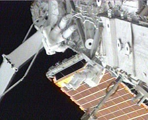 Another day, another space walk. Credit: NASA TV