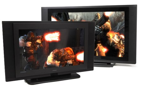 Evesham 26in Alqemi V and VX HD TVs (images from Gears of War for the Xbox 360)
