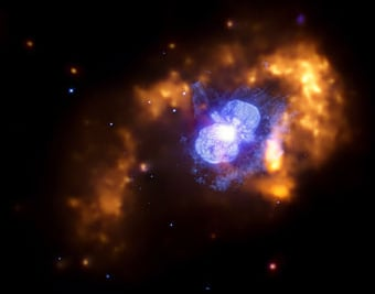 Star goes boom: Credit Credit: X-ray: NASA/CXC/GSFC/M.Corcoran et al.; Optical: NASA/STScI