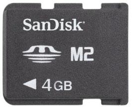SanDisk 4GB Memory Stick Micro M2 memory card