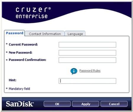 SanDisk Cruzer Enterprise software